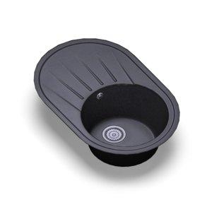 3D sink standart black oberon