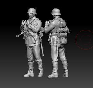 3D german soldier