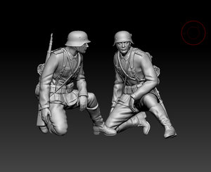 german soldier 3D