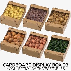 3D cardboard display box 03 model