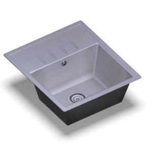 sink standart white random 3D model