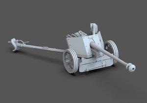3D model pak 40