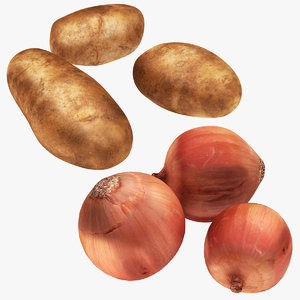 potato onion 3D model