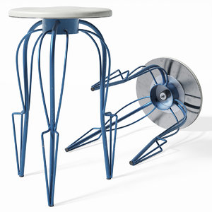 savarin bar chairs 3D model