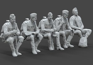 3D soldier ussr ww2