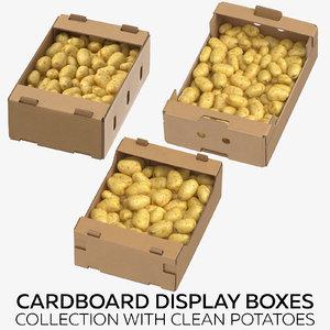 3D cardboard display boxes clean