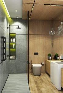 bathroom bath 3D