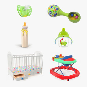 childcare products 3 child 3D model