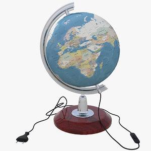 3D lightwave globe model