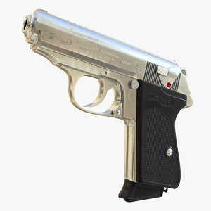 3D realistic walther ppk 01