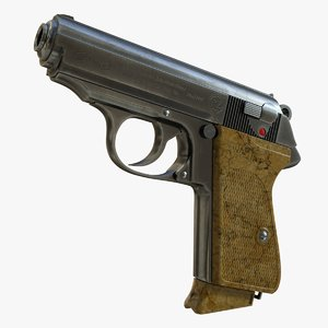 realistic walther ppk 01 3D model
