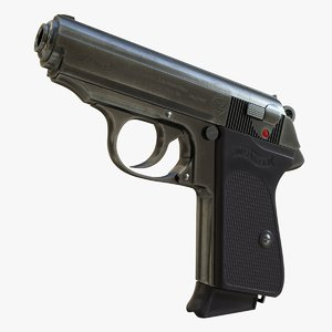 3D model realistic walther ppk 01