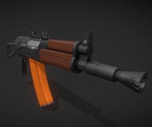 rifle weapon gun model