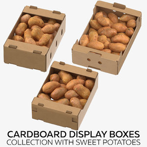 cardboard display boxes sweet 3D model