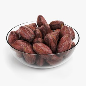 3D dried dates bowl model