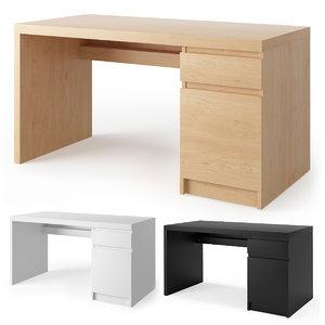 ikea malm desk 3D model
