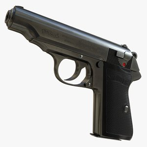realistic walther pp 01 3D model