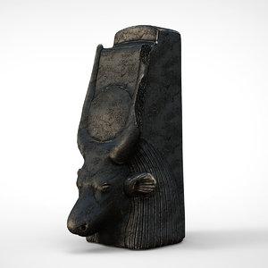 head cow goddess hathor model