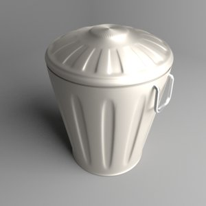 3D waste container 5 model