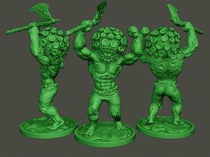 3D model humanoid virus c 0002
