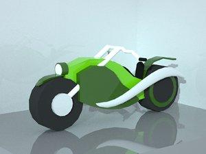 3D model chopper bike