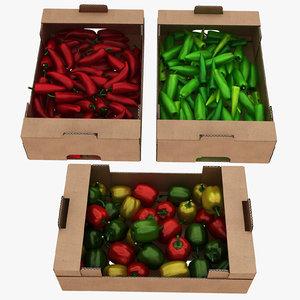 3D cardboard pepper