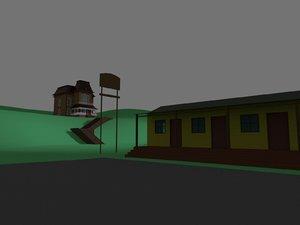 3D psycho motel bates