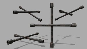 3D lug wrench