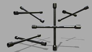 lug wrench 3D model