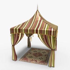 3d model arabian luxury tent