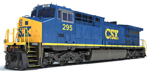 3D locomotive csx