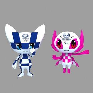 tokyo 2020 games mascot model