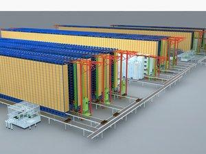 warehouse racks 3D