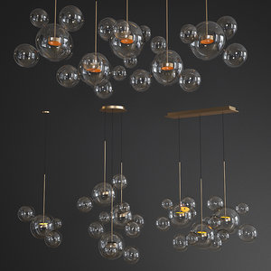3D giopato coombes chandelier glass