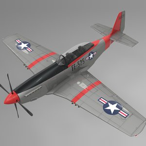 ff-525 north american p-51 mustang 3D