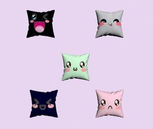 3D decorative kawaii pillows