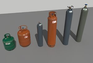 pack industrial gas container 3D