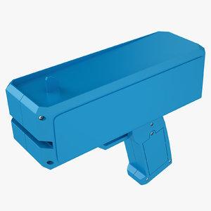 3D cash cannon blue
