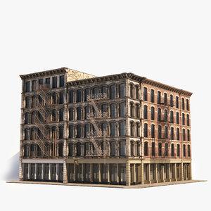 3D model soho facade 4