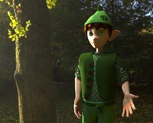 leprechaun animation games 3D model