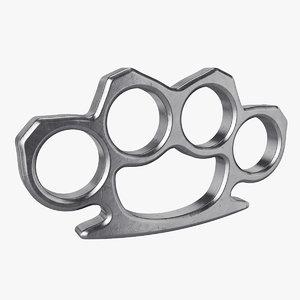 knuckles brass 3D model