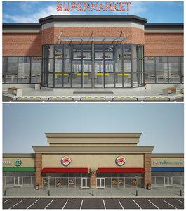 supermarket retail store 2 model