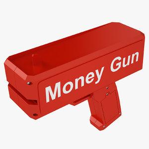cash cannon red 3D model