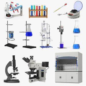 3D lab equipment 5 model
