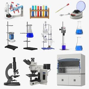 3D lab equipment 5 model