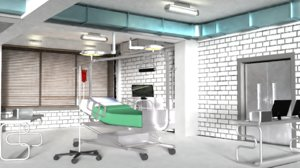 surgery room hospital doctor 3D model