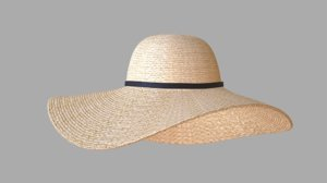 3D sun hat model
