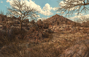 mountain mount forest 3D model
