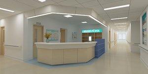 3D nurse station model