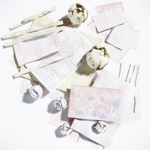 paper crumpled 3D model